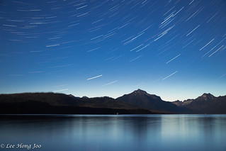 Star trail at Glacier National Park | by heyjojos