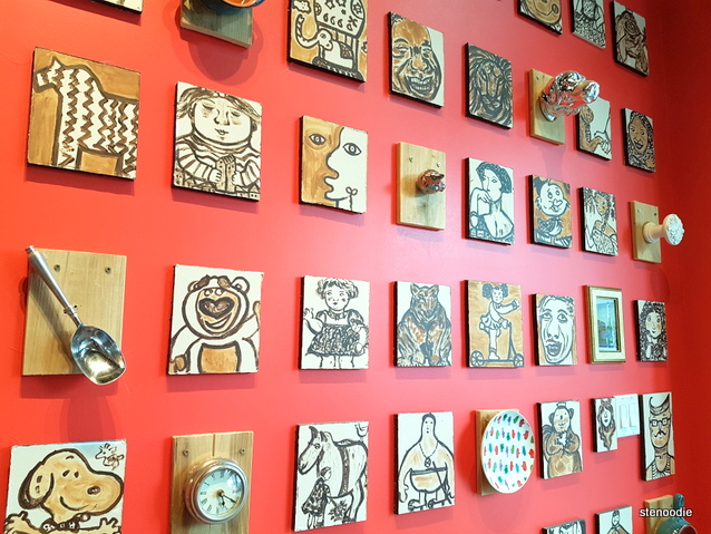Love Me Sweet World on Yonge interior wall