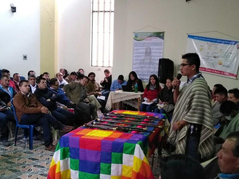 Reunión de apoyo y acompañamiento a comunidades indígenas