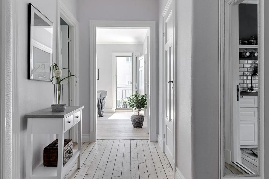 Classy White Swedish Home