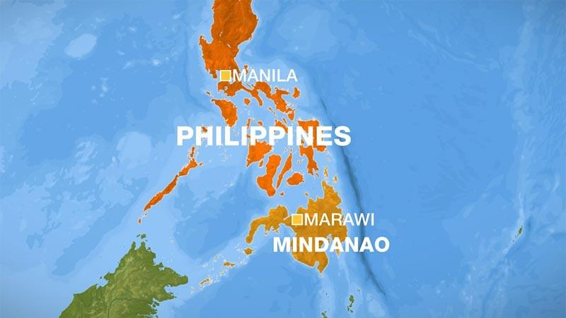 Peta Marawi di Mindanao, Filipina.