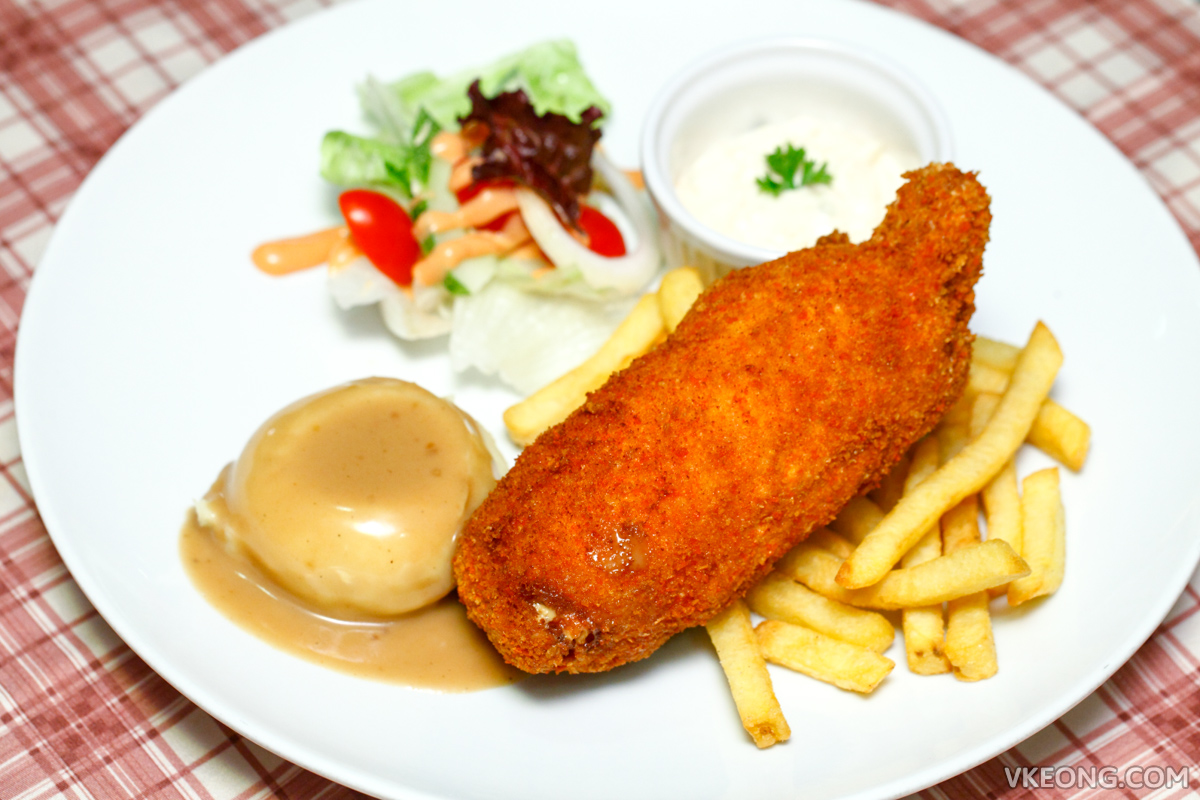 Richard's Top Taste Cafe Chicken Cordon Bleu with Fries