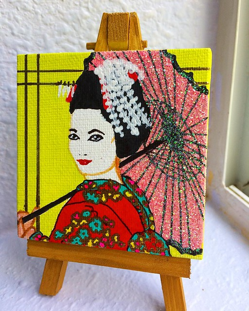 """Glitter Geisha"" is available in my Etsy shop! 💖✨✨✨"