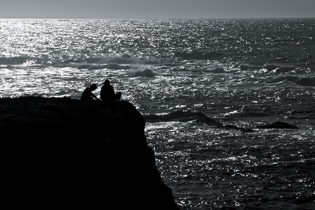 Two Silhouettes on the Shore
