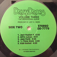 JOEY D. VIEIRA:DRUM DROPS VOLUME 3(LABEL SIDE-B)