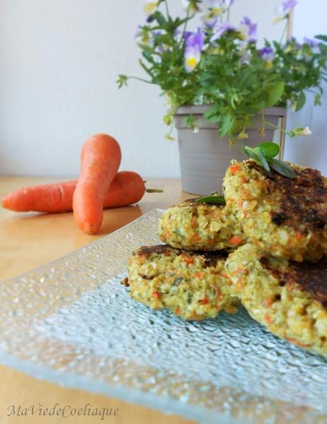 galettes de légumes sans gluten sans lactose