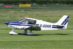 G-GDKR - 1983 build Robin DR400/140B Major, rolling for departure on Runway 26R at Barton
