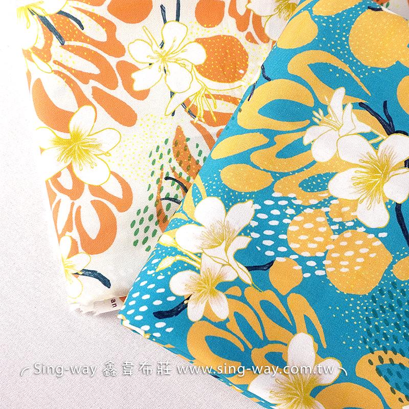 布學盒裝牛津布數位印花布(3尺)-油桐 手工藝DIy拼布布料 SW00500-4