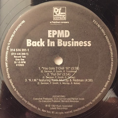 EPMD:BACK IN BUSINESS(LABEL SIDE-C)