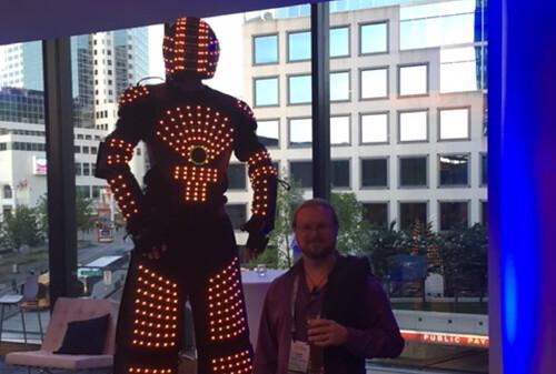 Robot man + Justin