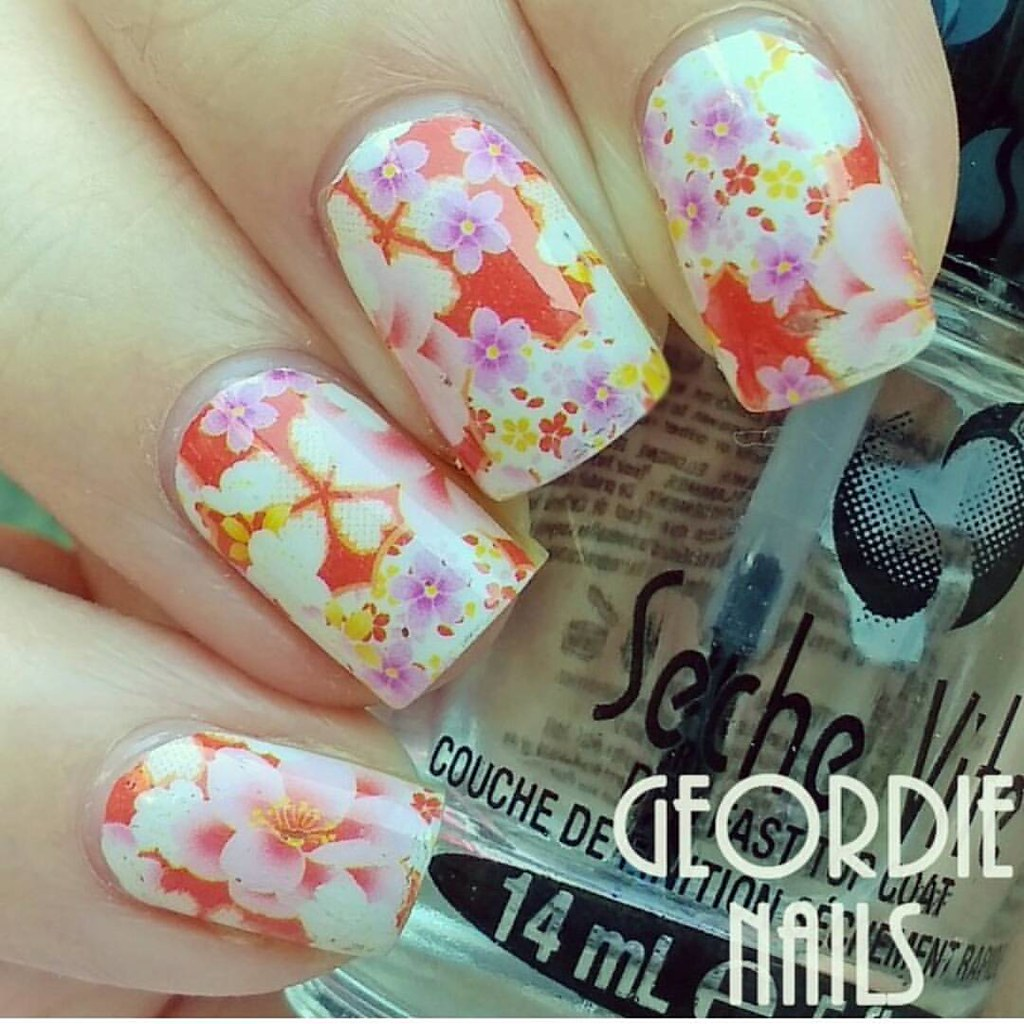 Nails Using Bold Blossom Nail Art Wraps Only 89p From Flickr