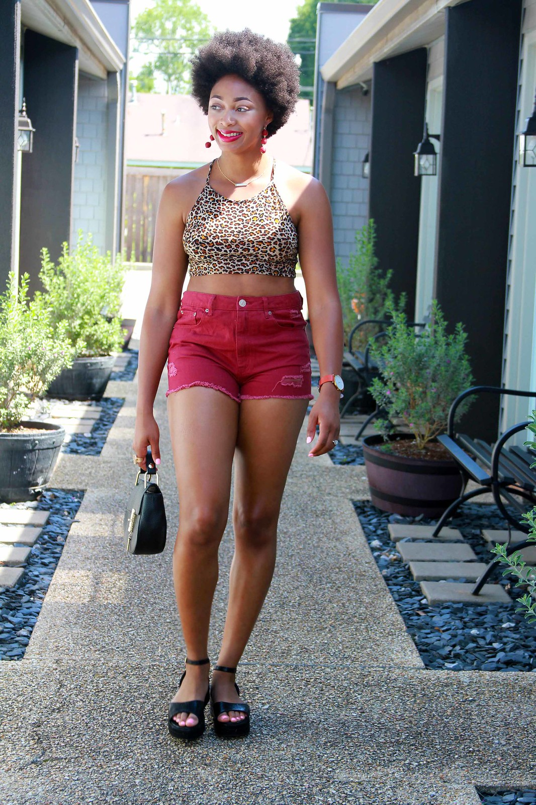 how to wear denim shorts, candace hampton
