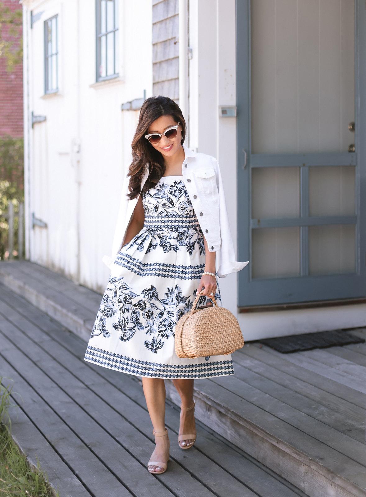 cape cod summer outfit vince camuto petite dress