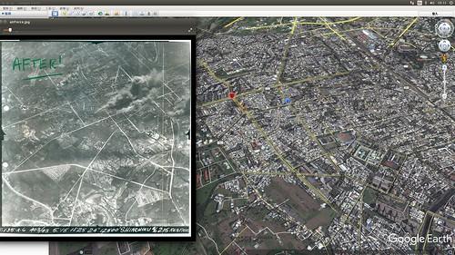 轟炸地圖對照