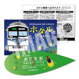 【6/17発売】「ホタル列車」運行記念★ホタル観賞記念入場券