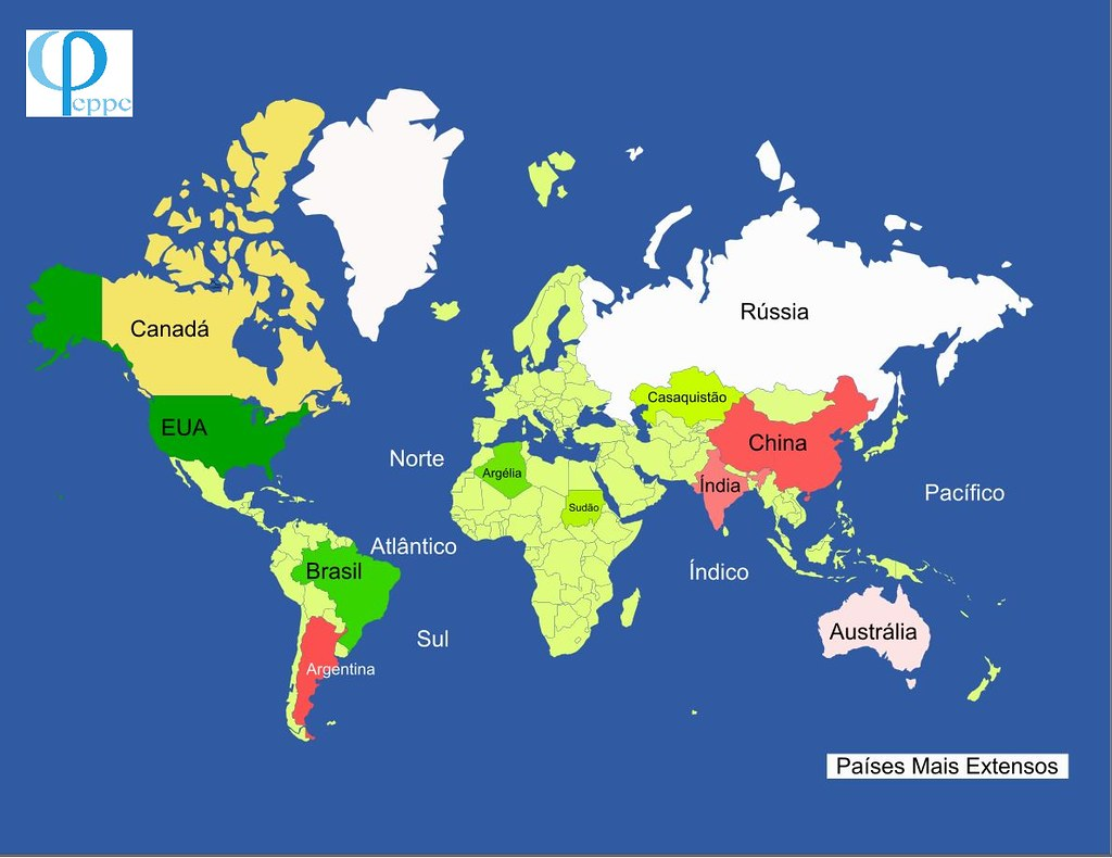 Os 10 países mais extensos do mundo