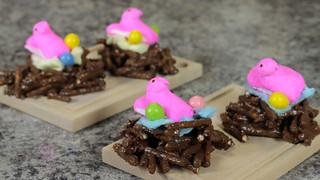 DIY Easter Recipe - Bird's Nest Made of Chocolate Covered Pretzels - Food Art For Kids Tutorial