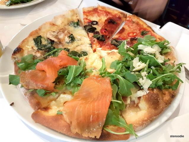 Pizza Diavola, Pizza Salamon, Pizza Fichi, Pizza Pollo Asiago