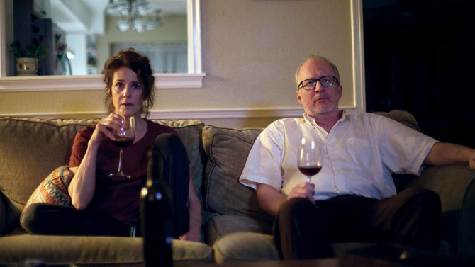 Debra Winger and Tracy Letts make the best of THE LOVERS.