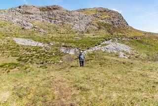 Anstieg An Sgùrr auf der Insel Eigg