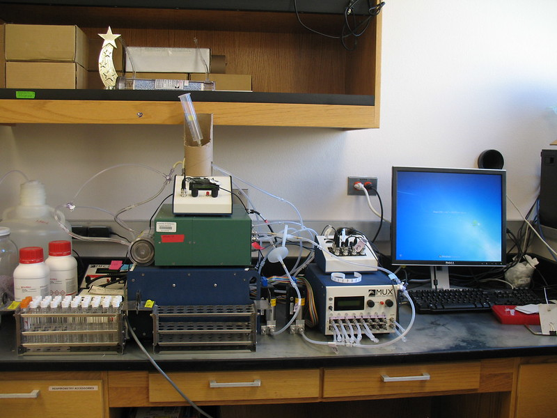Li-Cor / Oxilla stop-flow respirometry setup