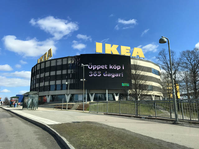 visiting ikea store in stockholm sweden the travel junkie. Black Bedroom Furniture Sets. Home Design Ideas