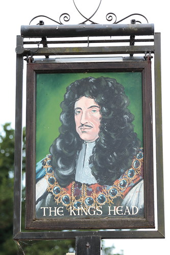 The Kings Head pub sign Little Marlow Buckinghamshire UK | by davidseall