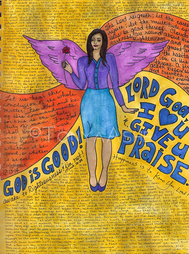 God is Good Art Journal Page