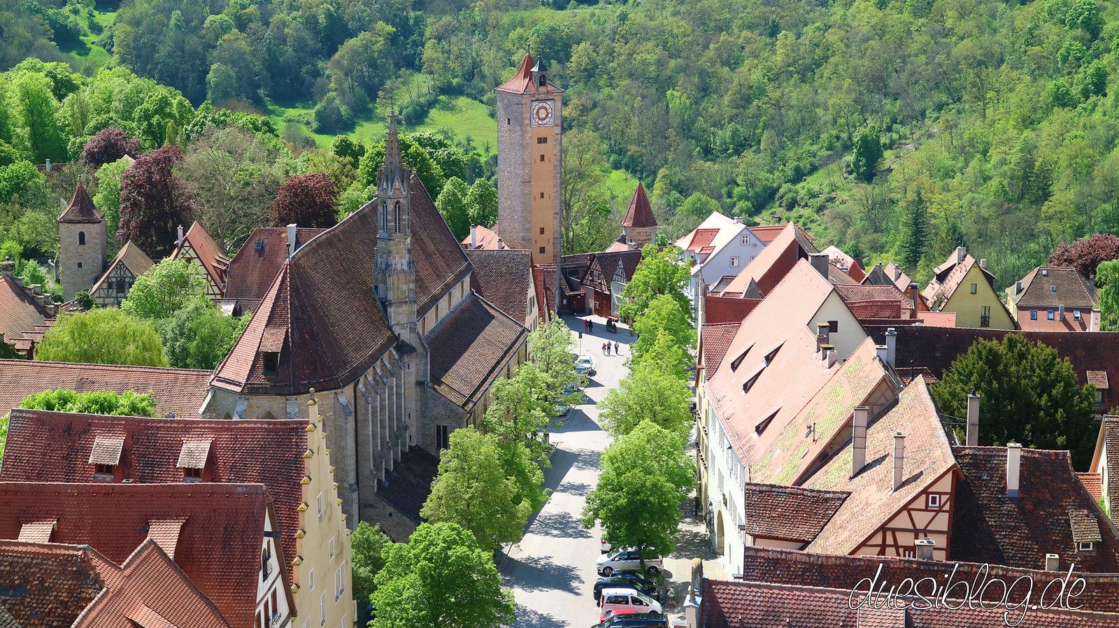 Rothenburg ob der Tauber von oben duesiblog 08