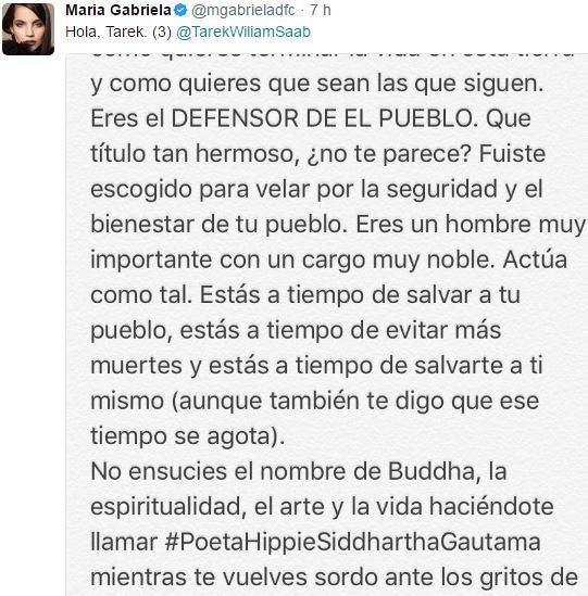 Captura 3 (María Gabriela De Faría le escribió al Defensor del Pueblo)