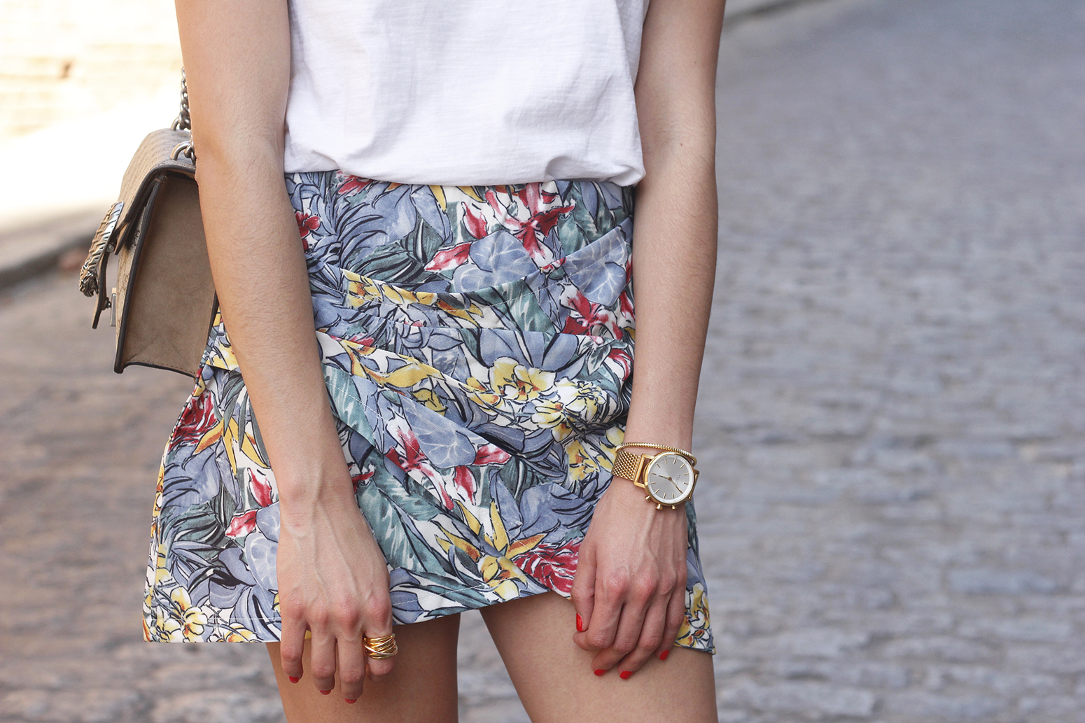 Tropical Skirt gucci bag superga outfit style summer14