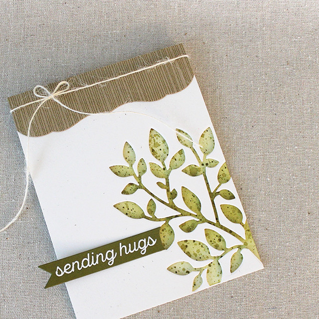 Sending Hugs Branch Card 2