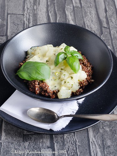 Weiße Ratatouille mit rotem Quinoa-2