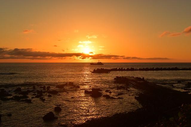 底土海水浴場からの朝日・ご来光