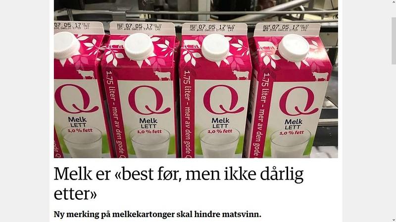 q melk ikke dårlig etter