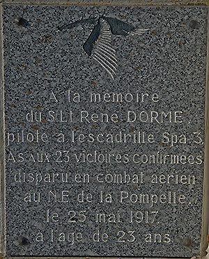 Commémoration du centenaire René Dorme