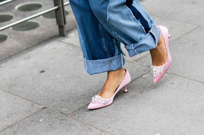 how to wear kitten heels summer 2017 street style outfits fashion trend10