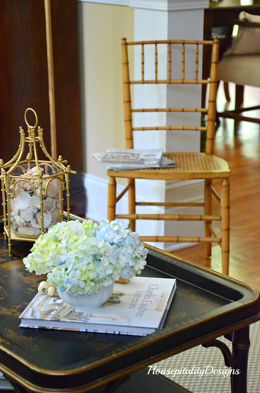 Hydrangeas-Vintage Bamboo Chair-Housepitality Designs