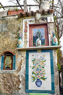 Altar on pathway between Minori and Ravello, Amalfi Coast, Italy | by Gwendolyn Stansbury