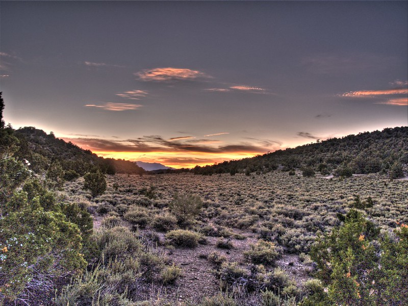HDR sunset shot from the Grandview Campground on White Mountain Road