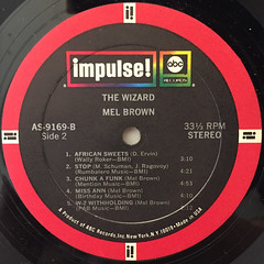MEL BROWN:THE WIZARD(LABEL SIDE-B)