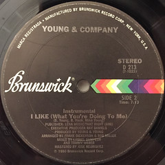 YOUNG & COMPANY:I LIKE(WHAT YOU'RE DOING TO ME)(LABEL SIDE-B)