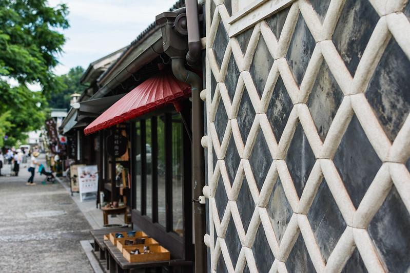 倉敷の町となまこ壁
