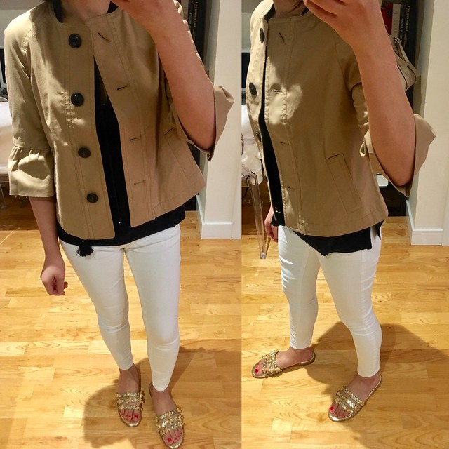 Ann Taylor Safari Swing Jacket, size XXSP