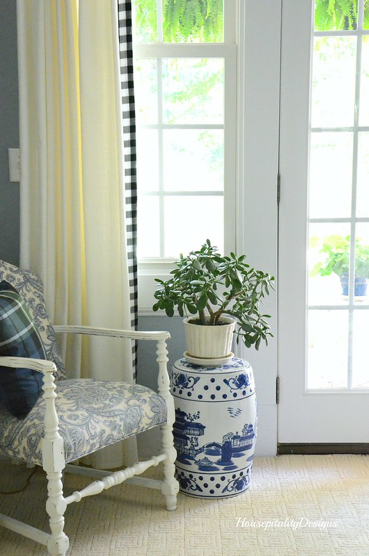 Guest Room-Jade Plant-Blue and White-Housepitality Designs