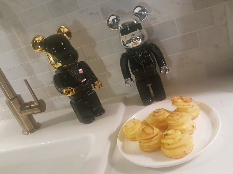 Daft Punk Bearbricks potato stacks