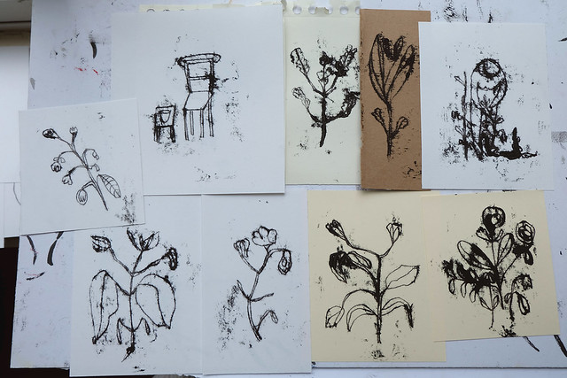 monoprint drawings