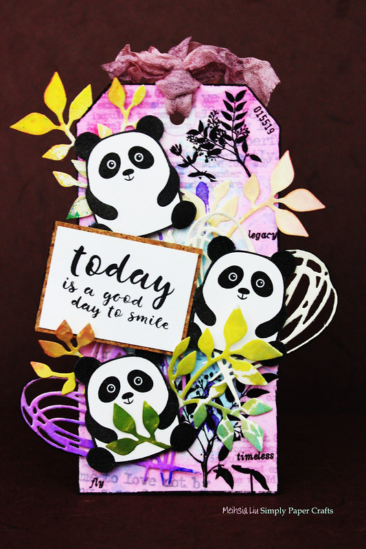 Meihsia Liu Simply Paper Crafts Mixed Media Tag Critters Panda Simon Says Stamp 1