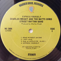 CHARLES WRIGHT & THE WATTS 103RD STREET RHYTHM BAND:EXPRESS YOURSELF(LABEL SIDE-A)