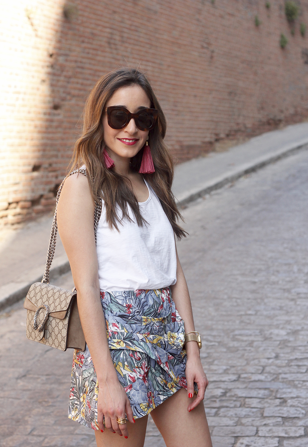 Tropical Skirt gucci bag superga outfit style summer12